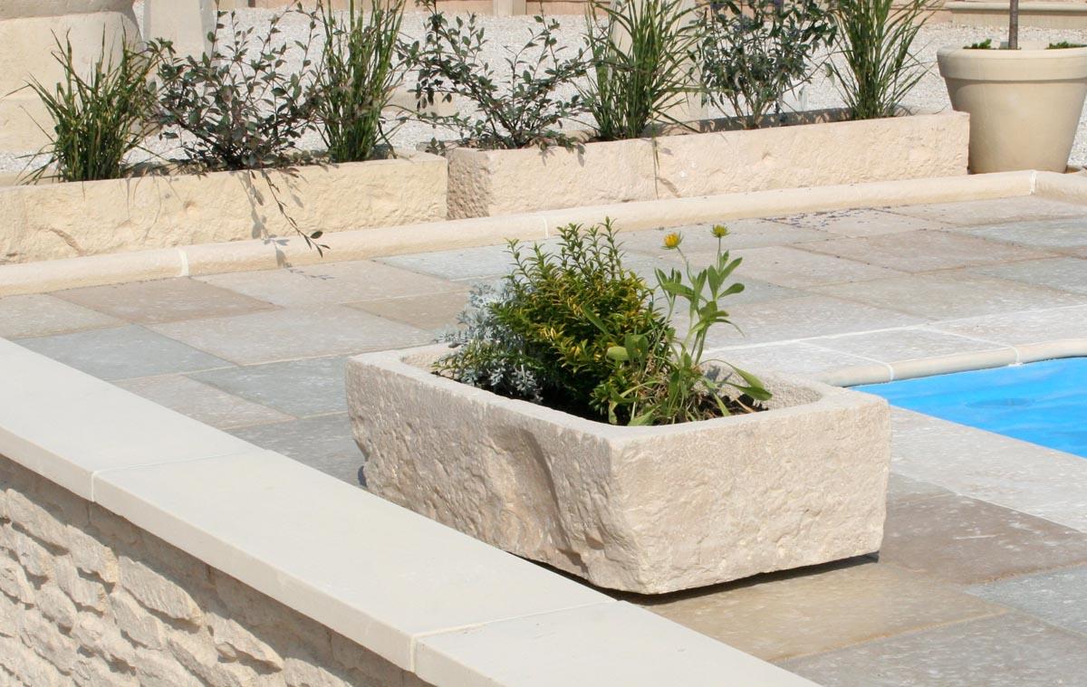 Bac A Fleur Exterieur auge, bac à fleur, jardinière en pierre reconstituée, modèle