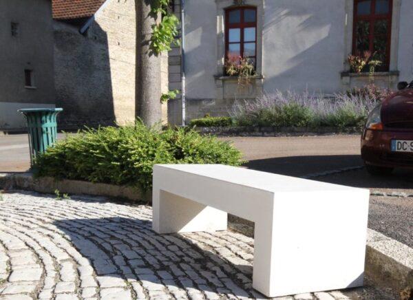 banc beton lisse