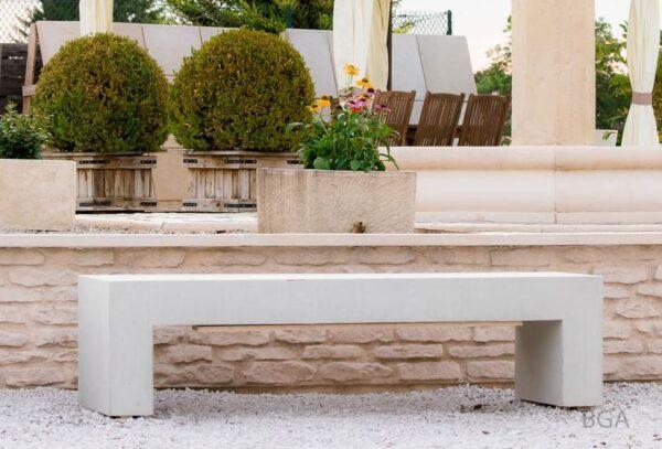 banc beton sur mesure