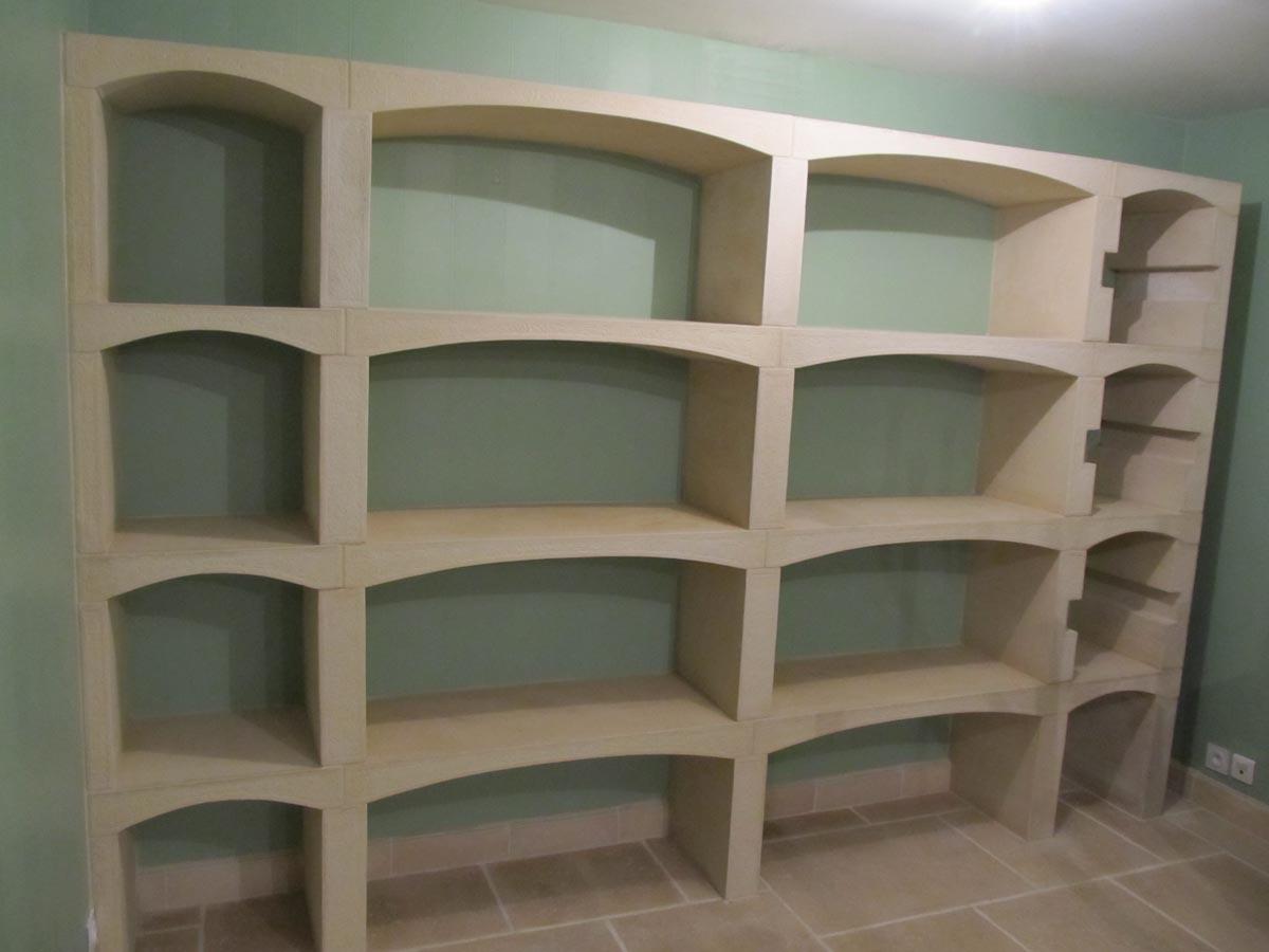 casiers bouteilles modulables en pierre reconstitu e. Black Bedroom Furniture Sets. Home Design Ideas
