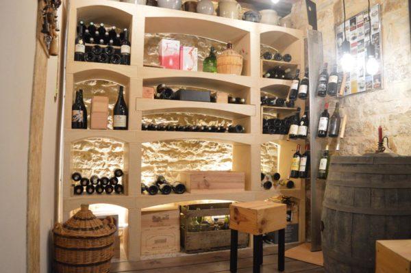 Casier à bouteilles à vin en pierre reconstituée, modulable