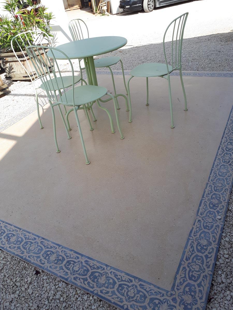 Pose Beton Ciré Exterieur dalle grand format béton lisse ou décoratif; dalle géante