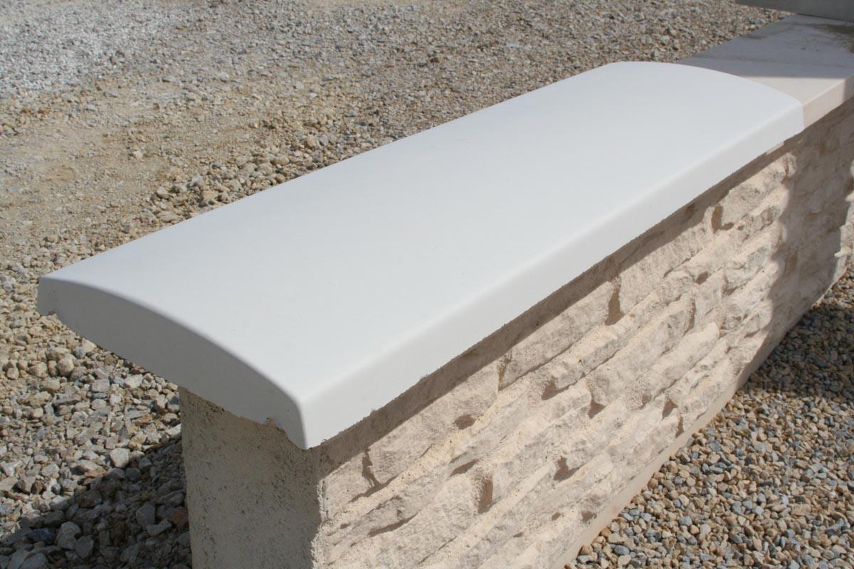 couvertine b ton arrondie 1 m blanche ou grise couvre mur. Black Bedroom Furniture Sets. Home Design Ideas