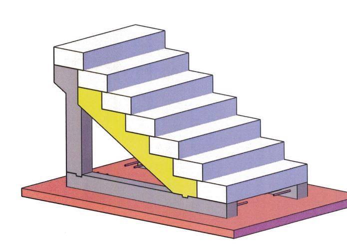 pose-cremaillere-prefabriquee-beton-sur-poteaux-porteurs