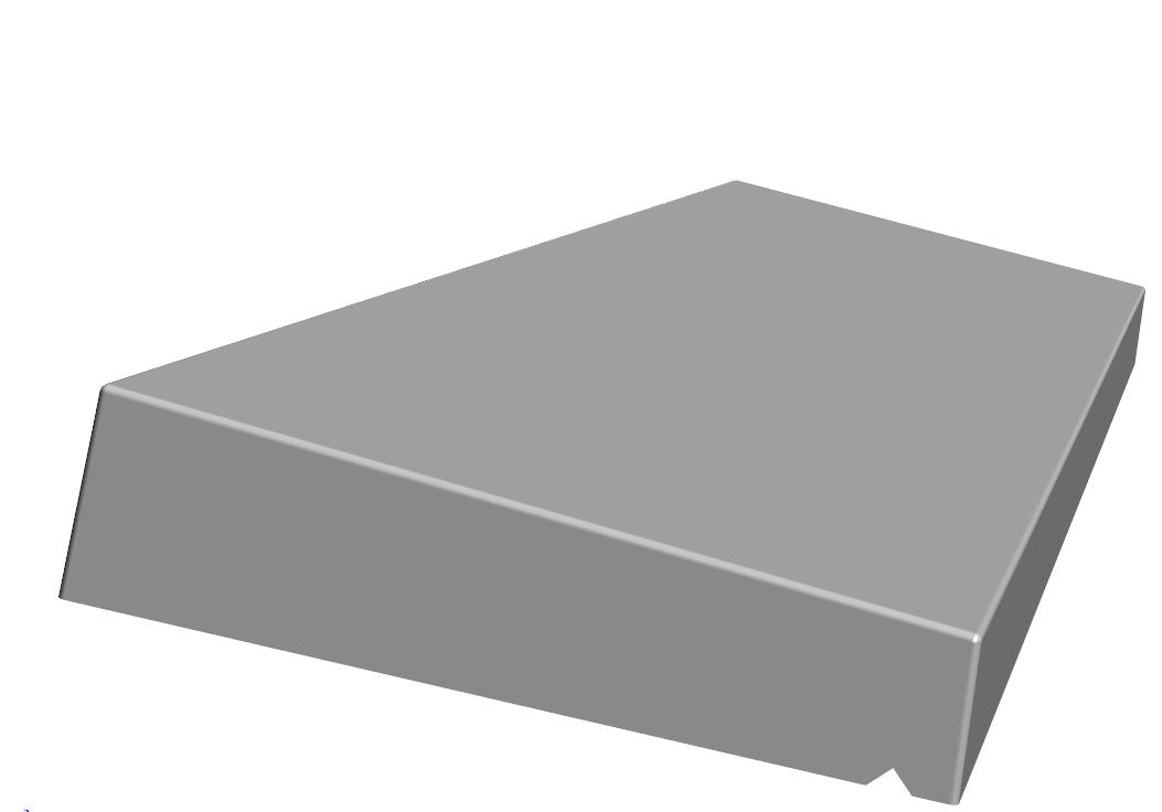 K.1–Couvertine 1 pente 5.5-7.5x30x100