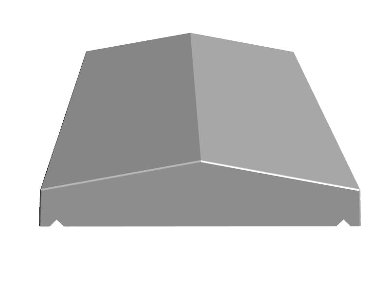 K.4-Couvertine 2 pentes de 52