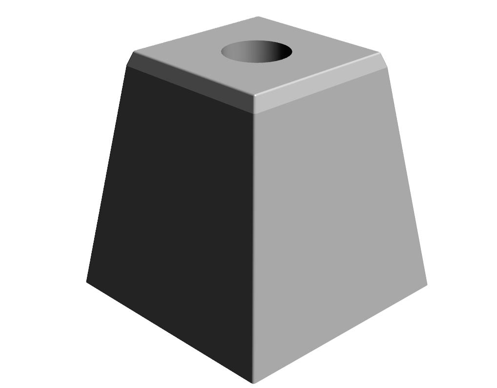 M.2-Dé de poteau lisse