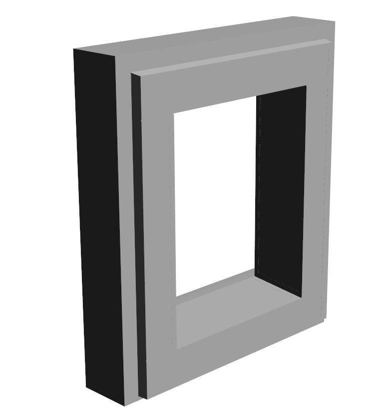 N.1-Encadrement Fenêtre Monobloc 80×95