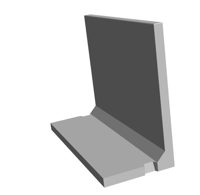 S.2-Mur en L 2000×800
