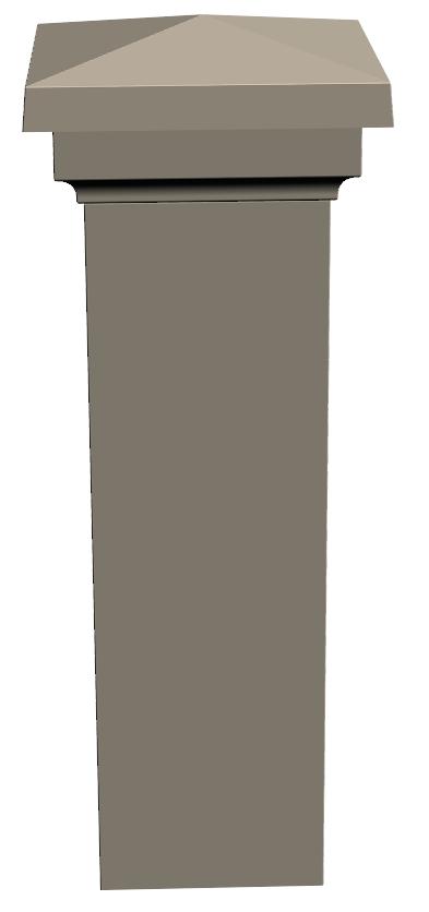 U.4-Pilier 35×35 Ensemble avec Diamant