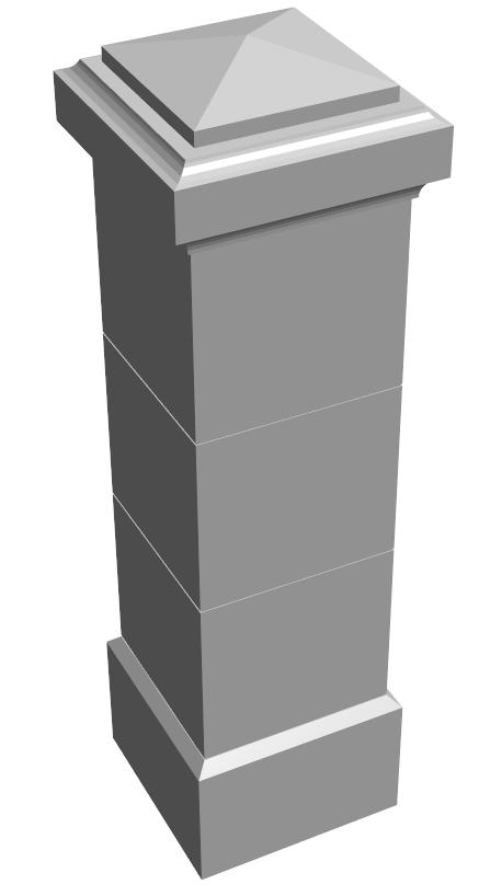 U.8-pilier 50×50