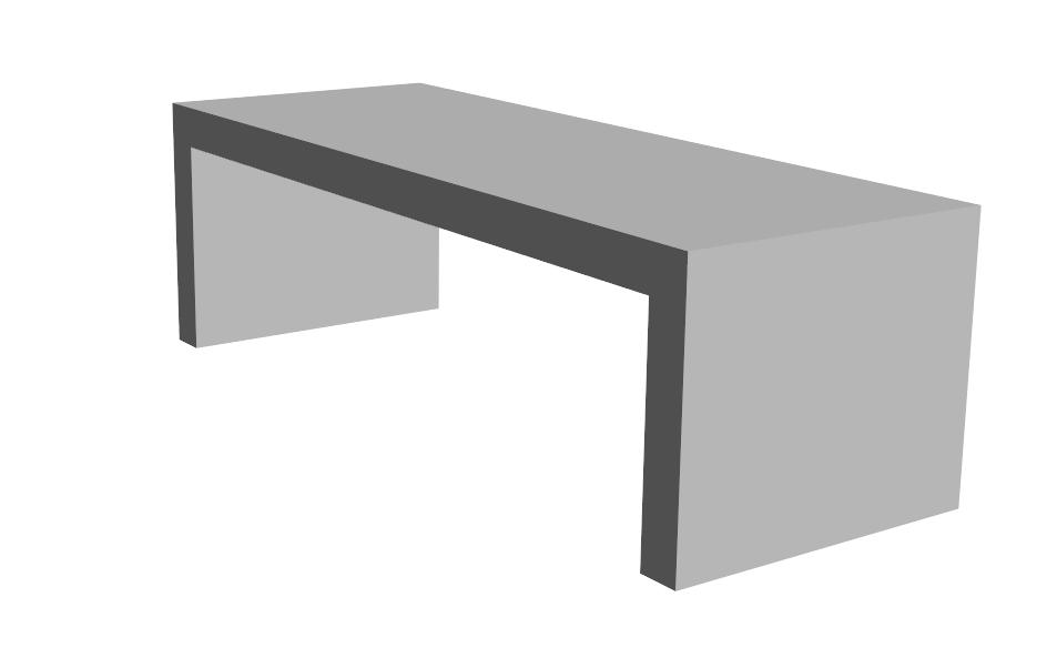 X.1-Table Banc en U